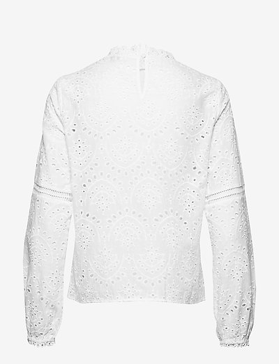Cream Tilinecr Blouse- Blusen & Hemden Chalk