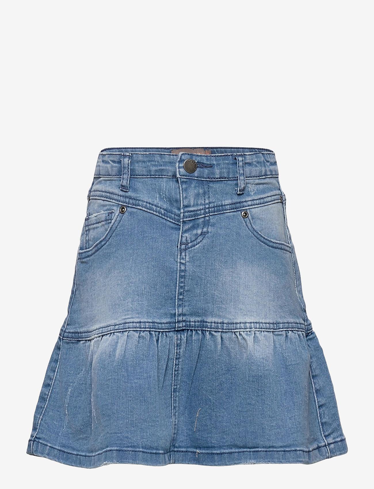 Creamie - Skirt Denim - röcke - light blue denim - 0