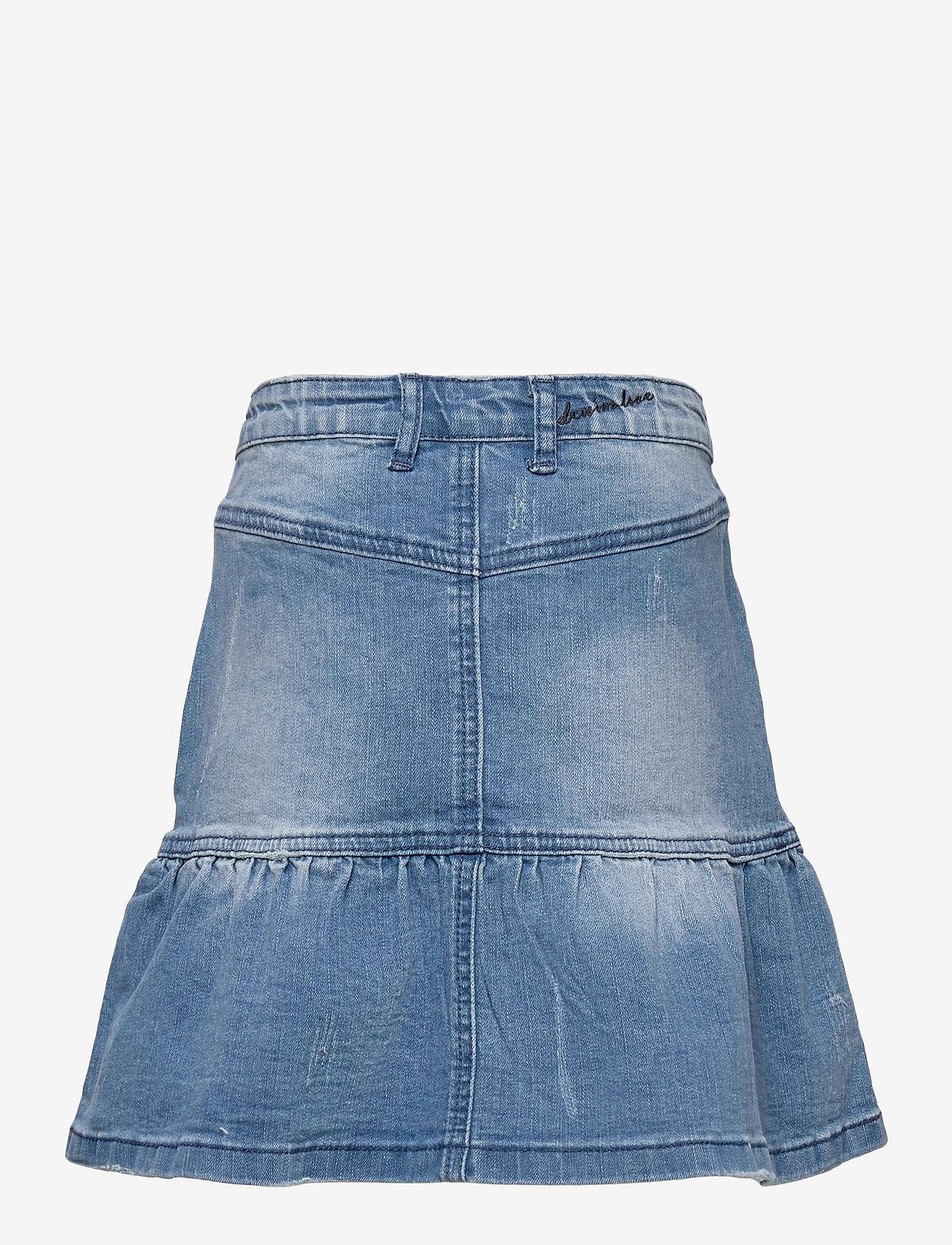 Creamie - Skirt Denim - röcke - light blue denim - 1