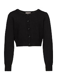 Creamie Short Cardigan - BLACK