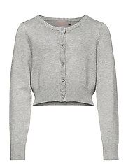 Creamie Short Cardigan - LIGHT GREY MELANGE