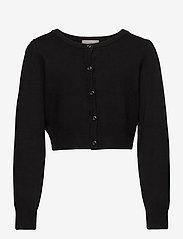 Creamie - Creamie Short Cardigan - gilets - black - 0