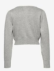 Creamie - Creamie Short Cardigan - gilets - light grey melange - 1