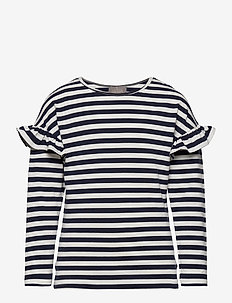 T-Shirt Stripe LS - langærmede t-shirts - total eclipse