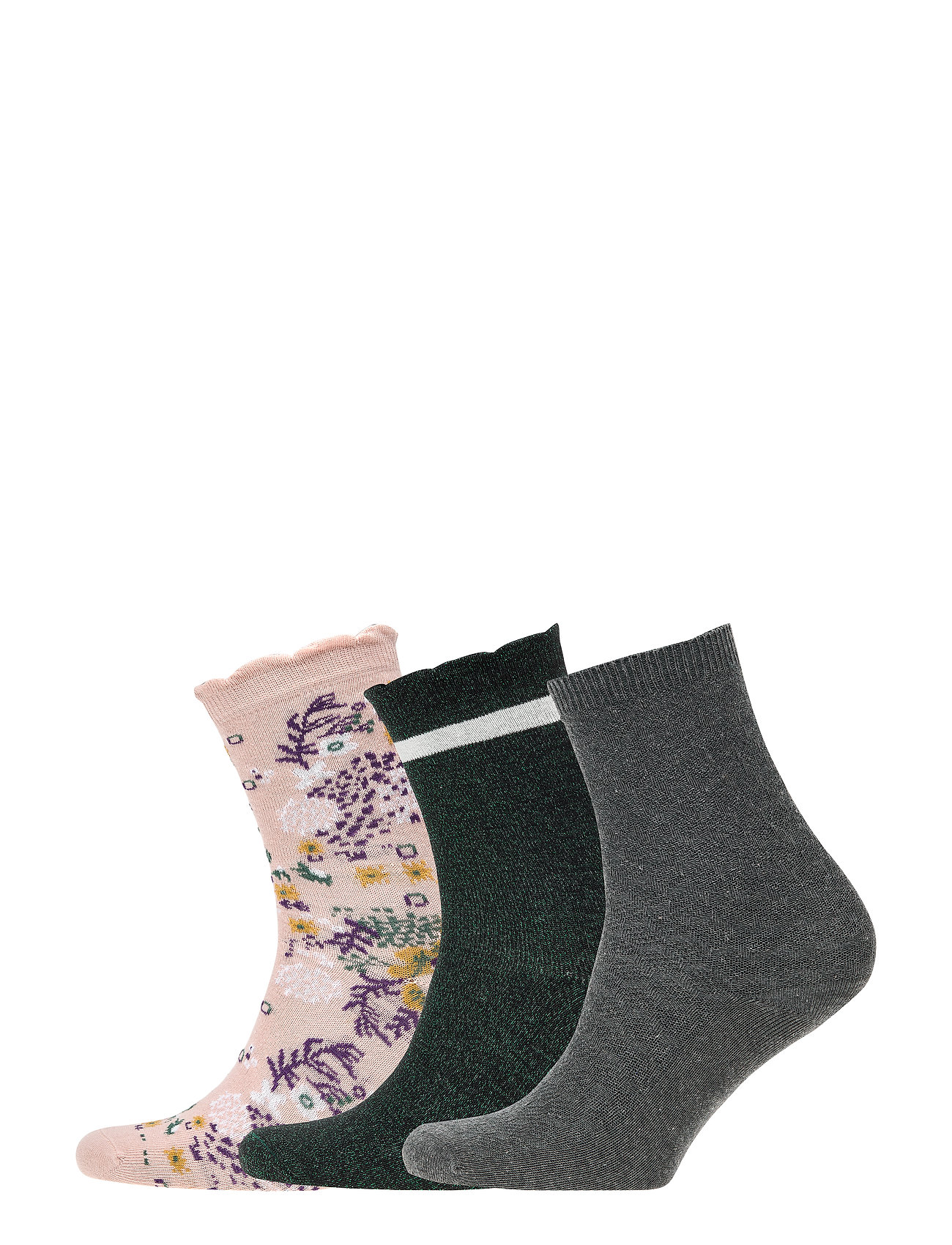 Creamie Socks 3-Pack - DARK GREY MELANGE