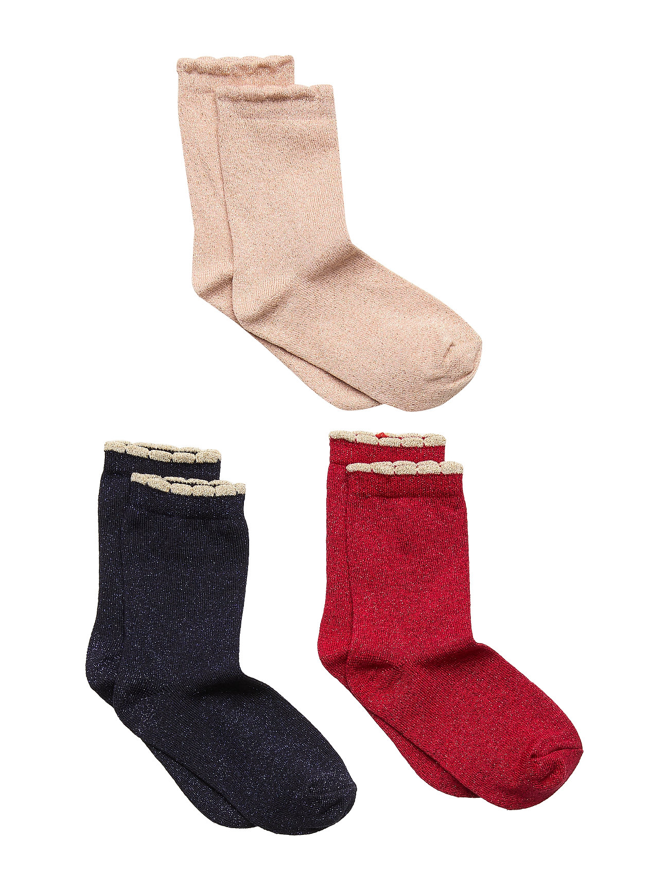 Creamie Socks 3-Pack - CRIMSON