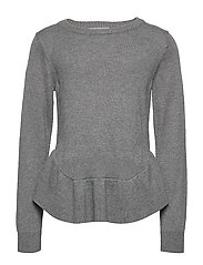 Pullover Wool Knit - DARK GREY MELANGE