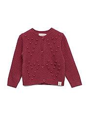 Cardigan Bubble Knit - DRY ROSE