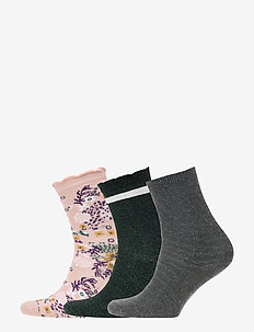 Socks 3-Pack - DARK GREY MELANGE