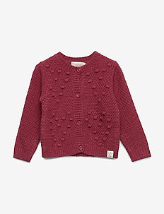 Cardigan Bubble Knit - DRY ROSE