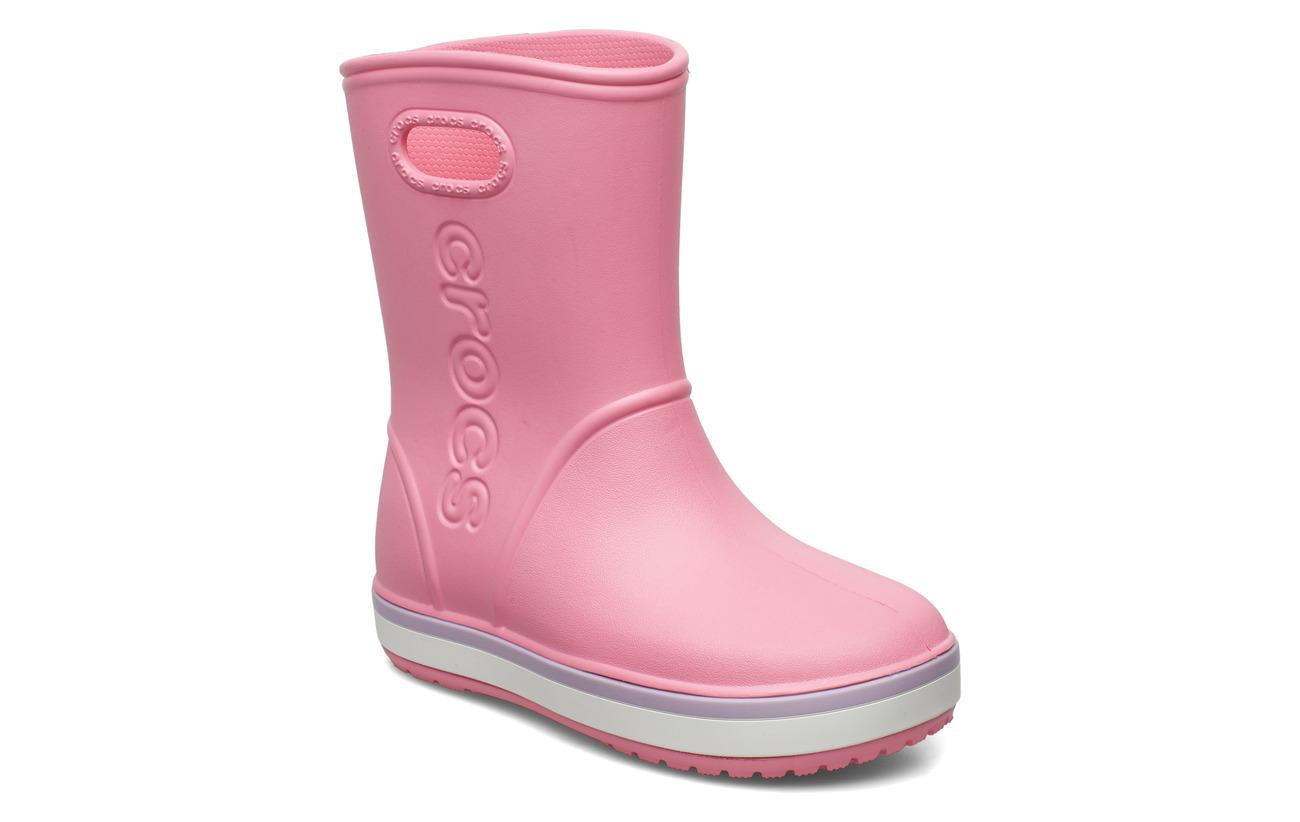 Crocs Crocband Rain Boot K - PINK LEMONADE/LAVENDER