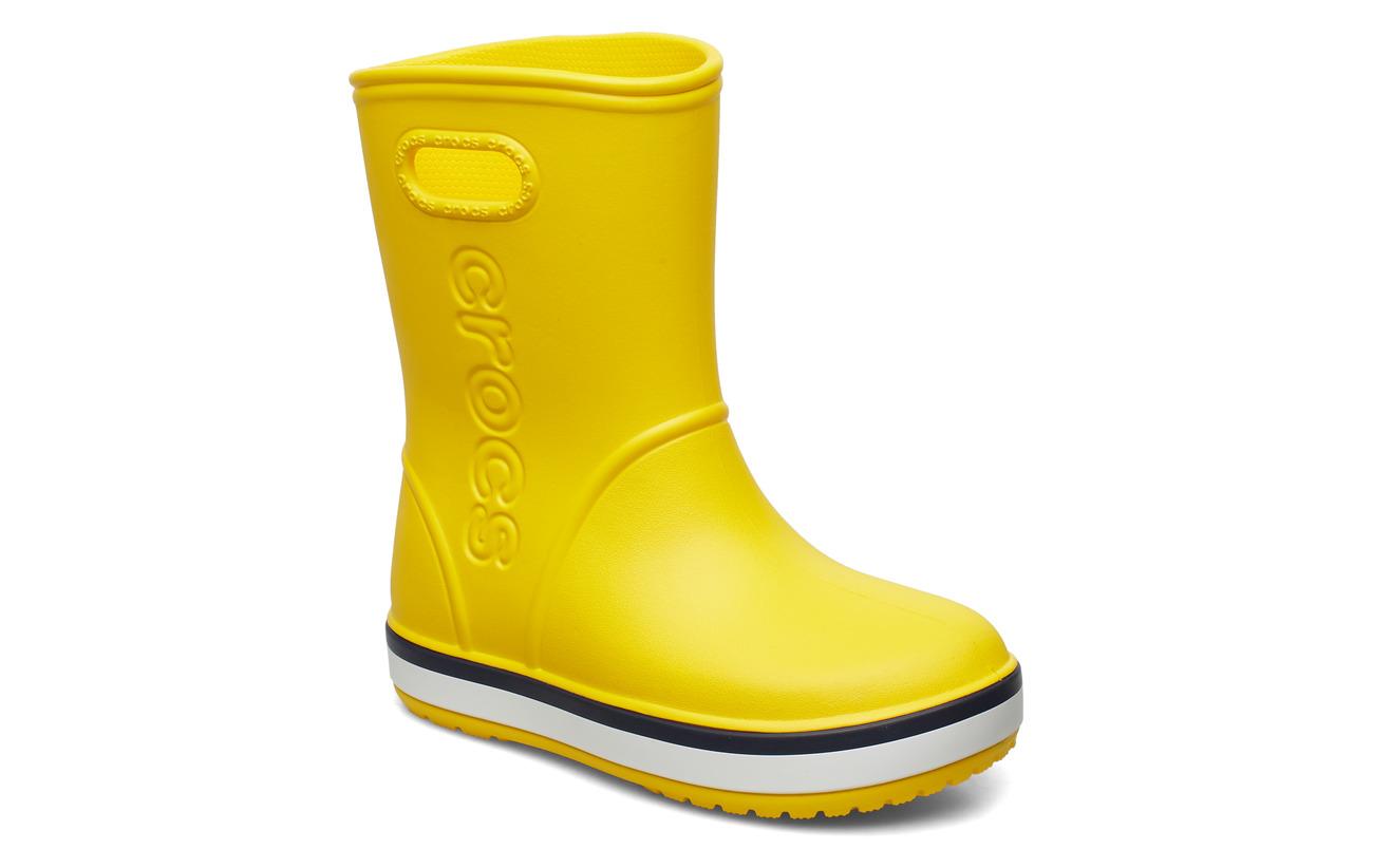 Crocs Crocband Rain Boot K - YELLOW/NAVY