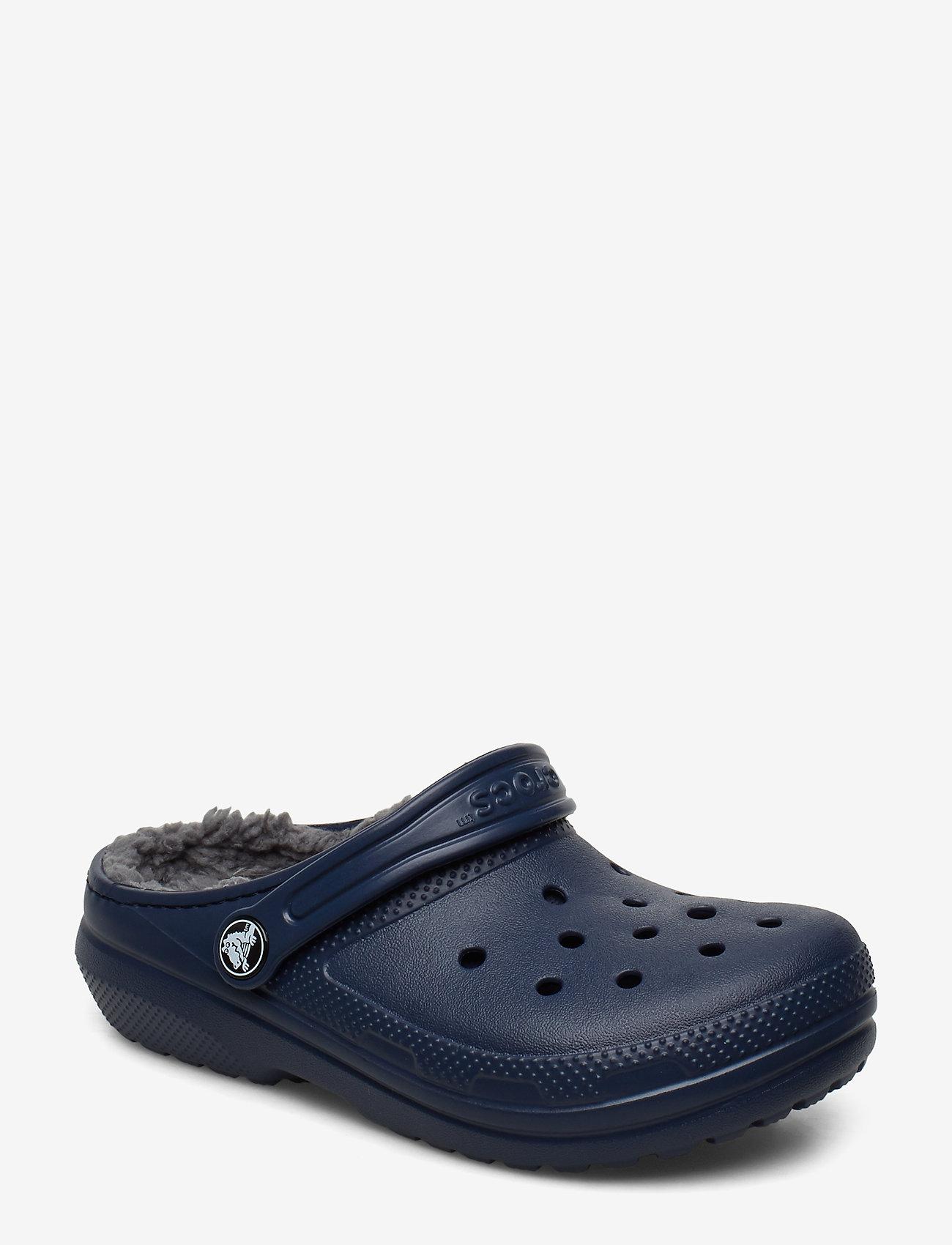 Crocs - Classic Lined Clog K - navy/charcoal - 0