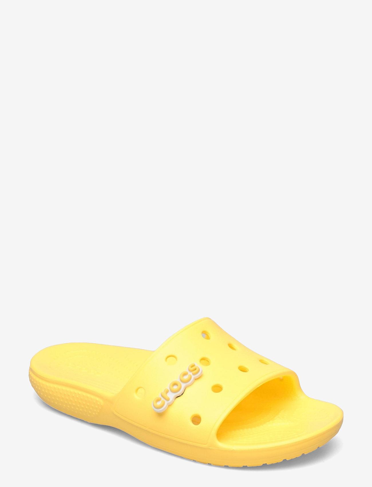 Crocs - Classic Crocs Slide - pool sliders - lemon - 0