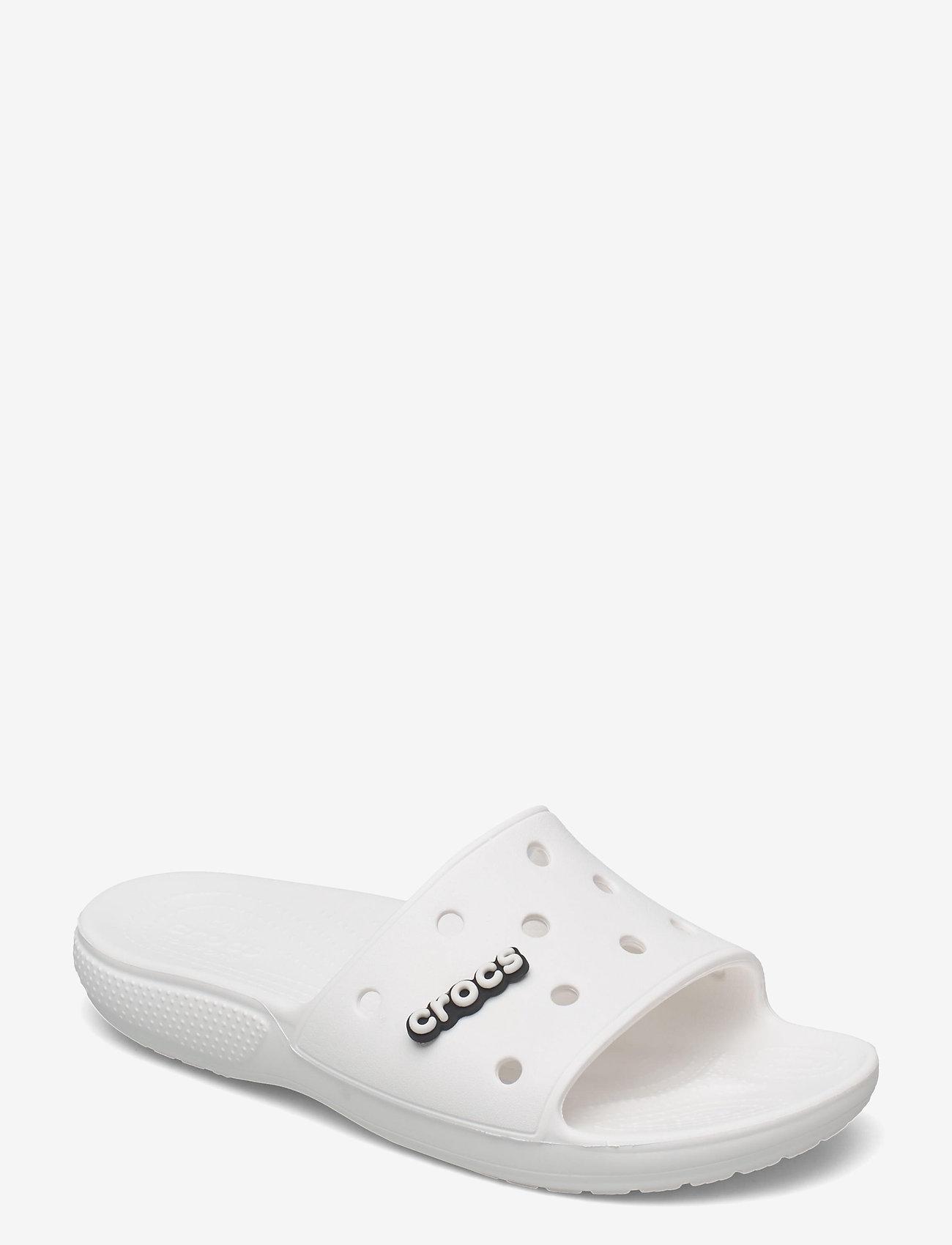 Crocs - Classic Crocs Slide - pool sliders - white - 0