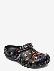 Crocs - Classic Printed Floral Clog - black/multi - 0