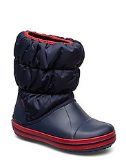 Winter Puff Boot Kid - NAVY/RED