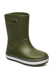 Crocband Rain Boot K - ARMY GREEN/SLATE GREY