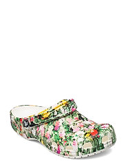 Classic Printed Floral Clog - WHITE/MULTI