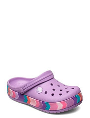 Crocband Chevron Beaded Clog K - ORCHID