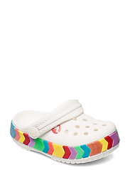 Crocband Chevron Beaded Clog K - WHITE