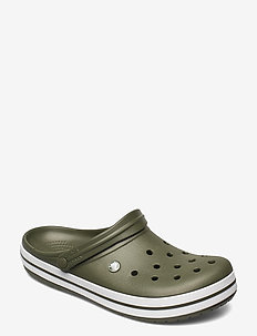Crocband - pool sliders - army green/white