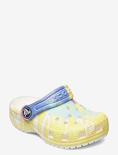 Classic Tie Dye Graphic Clog K - crocs - white/multi