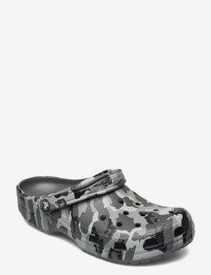 Classic Printed Camo Clog - matalat sandaalit - slate grey/multi