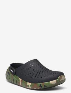 LiteRide Printed Camo Clog Blk/Mlti - platta sandaler - black/multi