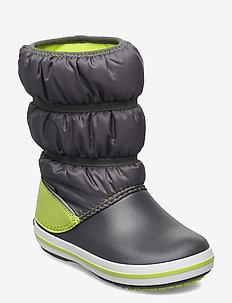 Crocband Winter Boot K - vinter boots - slate grey /lime punsch