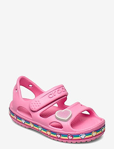 Crocs Fun Lab Rainbow Sandal K - flip-flops & badskor - pink lemonade