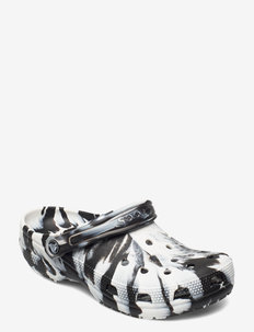 Classic Marbled Clog - pool sliders - white/black