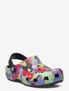 Classic Bubble Block Clog K Blk/Mlti - strap sandals - black/multi