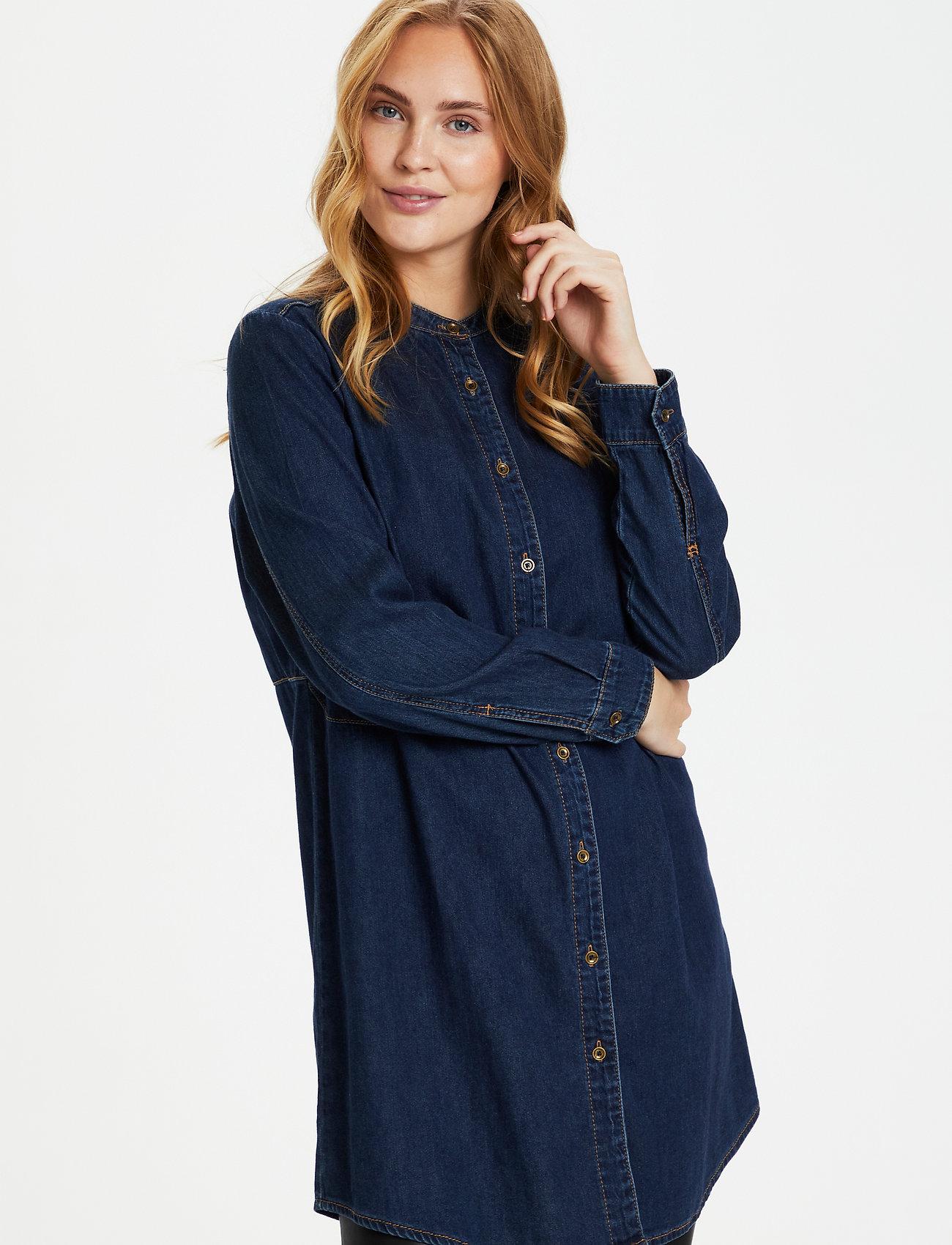 Culture - CUpaola Long Shirt - jeansblouses - blue wash - 0