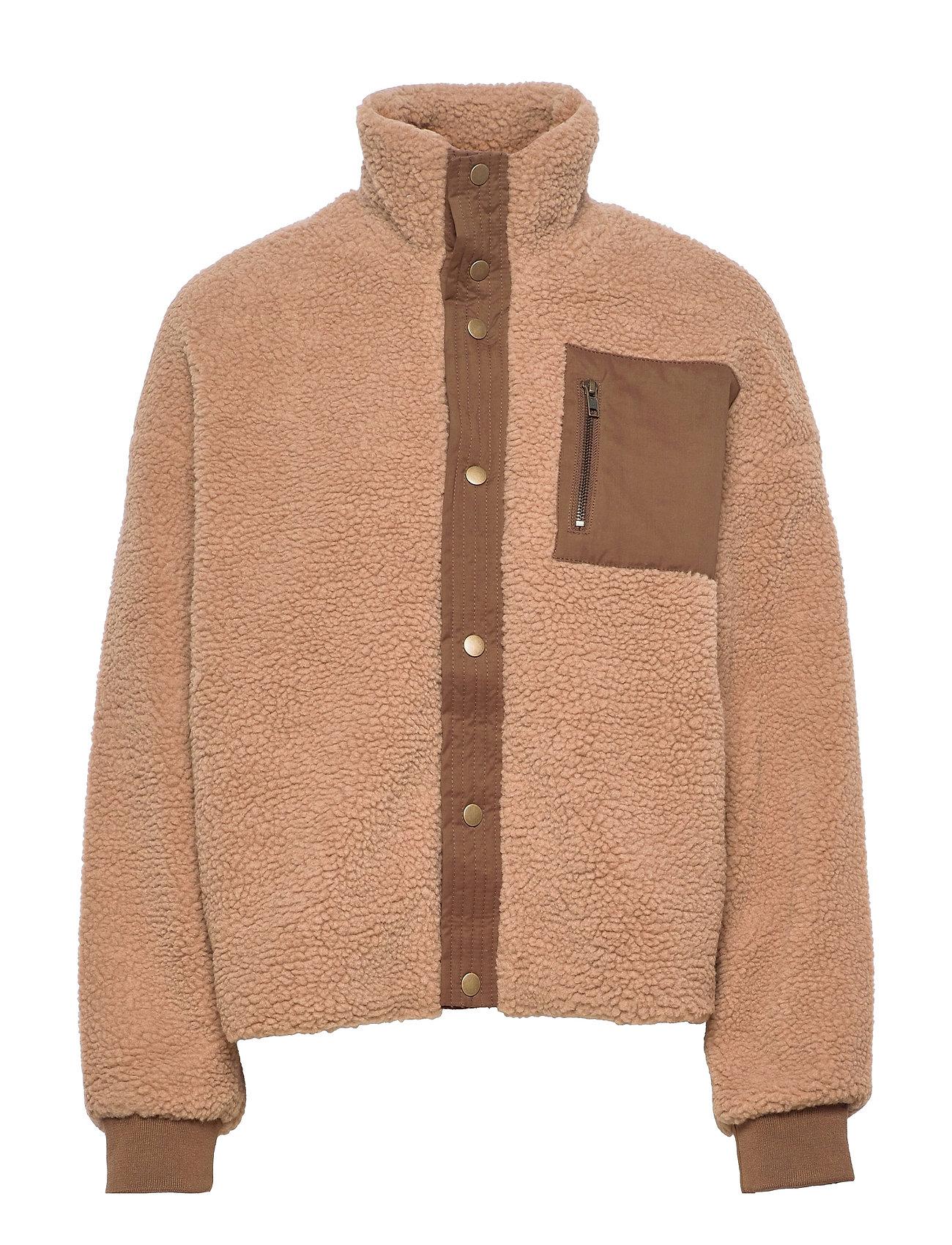 Cutally Teddy Fleece Jacket Uldjakke Jakke Brun Culture