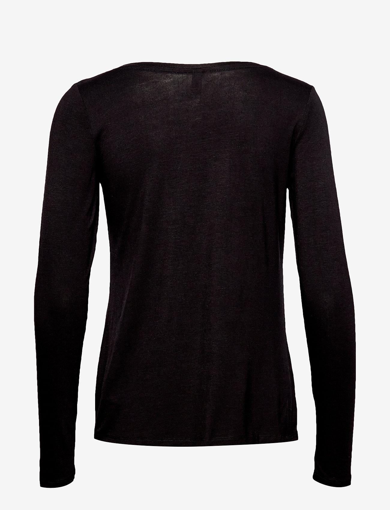 Culture Norah T-Shirt LS - T-shirty i zopy BLACK - Kobiety Odzież.