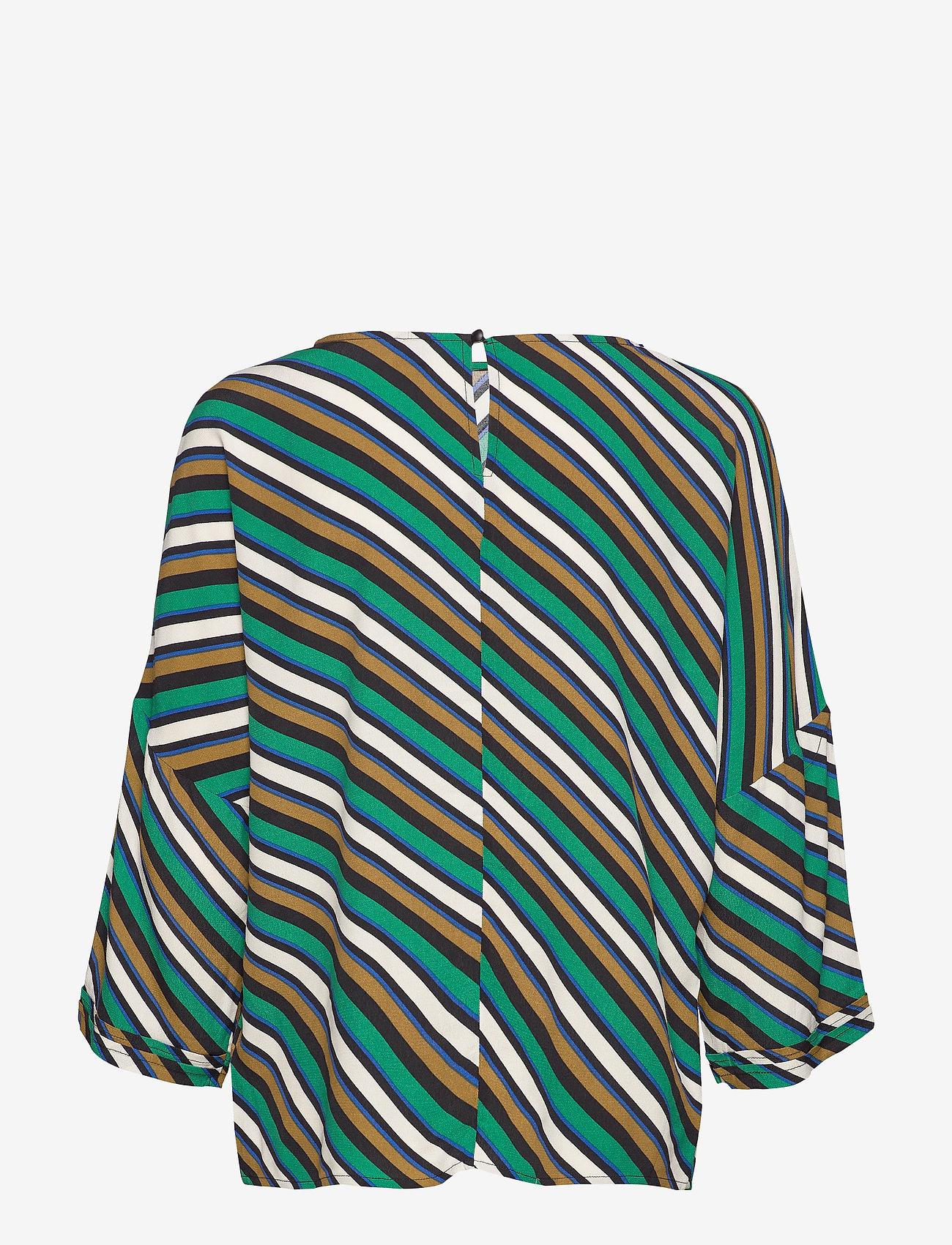Culture - CUrosalinde Blouse - pitkähihaiset puserot - verdant green
