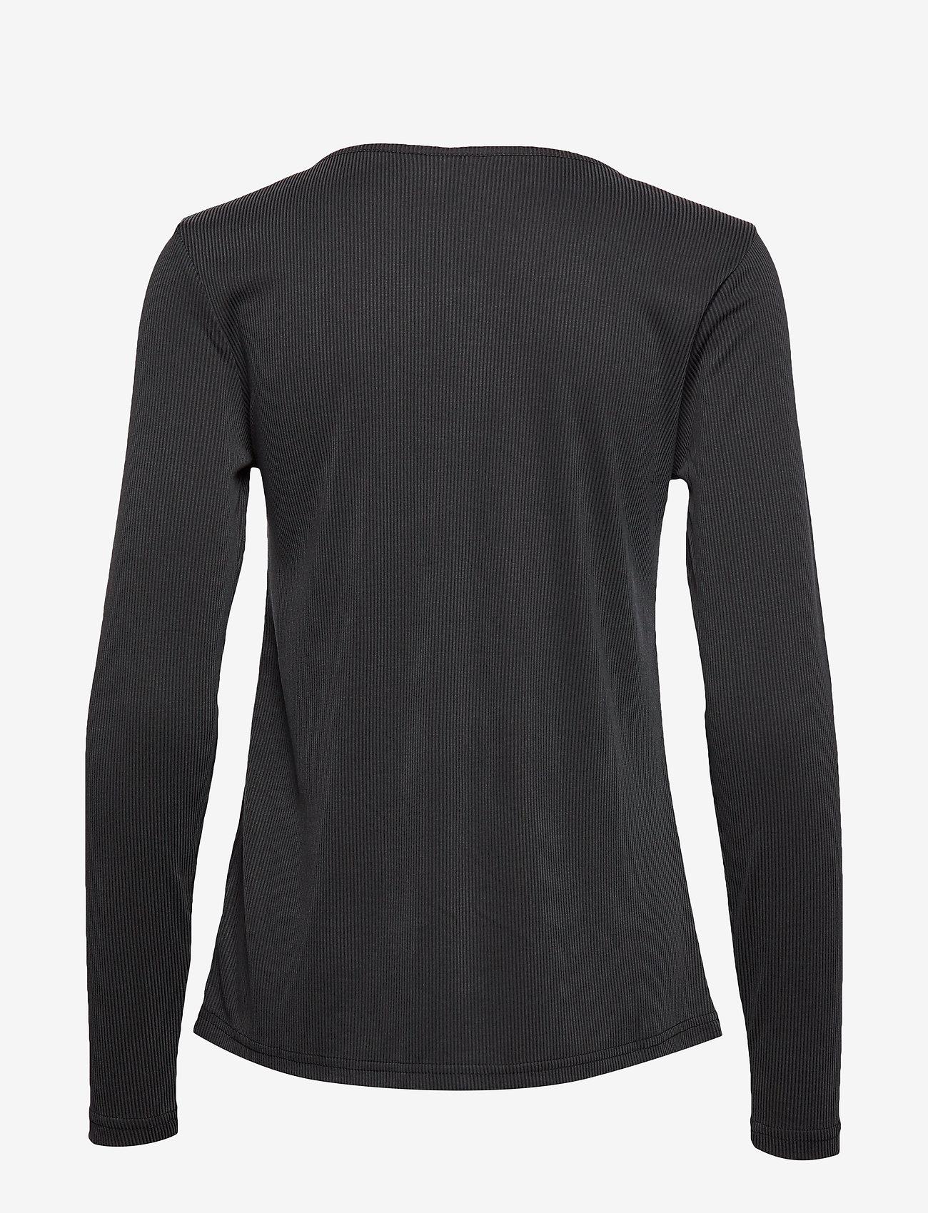Culture CUkajsa Rib Button LS - T-shirty i zopy BLACK - Kobiety Odzież.
