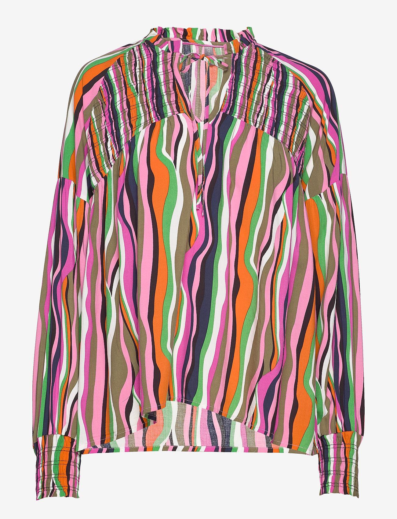 Culture - CUanneke Blouse - pitkähihaiset puserot - pink glo