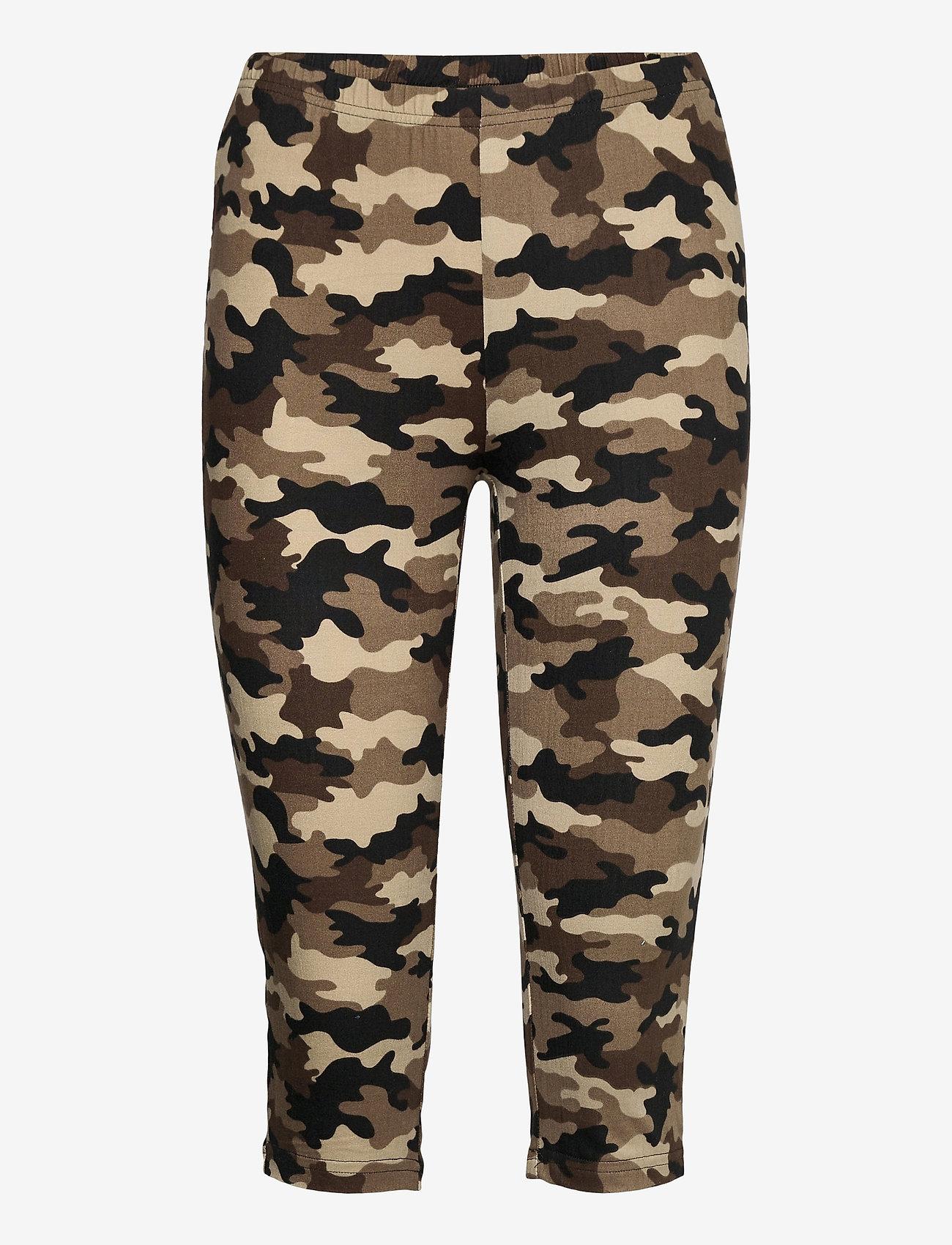 Culture - CUsemira Capri - pantalons capri - brown camouflage - 0