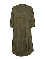 CUantoniett Dress - BURNT OLIVE