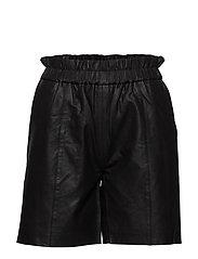 CUalina Leather Shorts - BLACK
