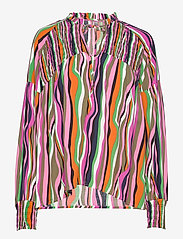 Culture - CUanneke Blouse - pitkähihaiset puserot - pink glo - 0