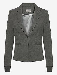 Eva Blazer - casual blazers - dark grey melange ltr075