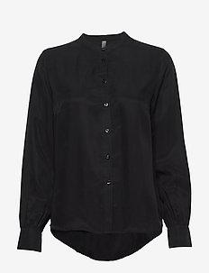 CUamy Shirt - long sleeved blouses - black