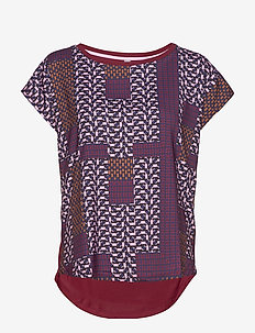 CUpolly Capsleeve - t-shirty - cabernet