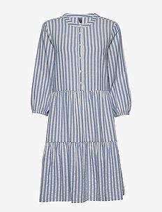 CUnoor Stripe Dress - shirt dresses - mazarine blue