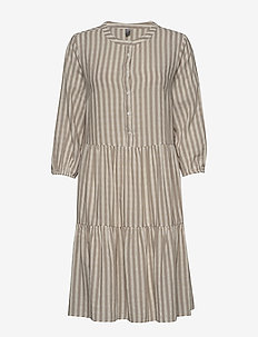 CUnoor Stripe Dress - shirt dresses - sand stripe