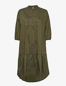 CUantoniett Dress - BURNT OLIVE