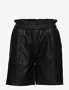 CUalina Leather Shorts - læder shorts - black